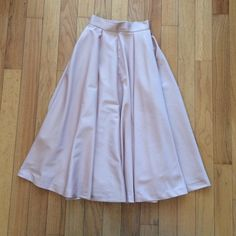 Pink satin skirt Gorgeous high waisted full skirt with tags xs H&M Skirts