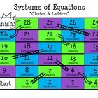"Solving Systems of Linear Equations ""Chutes and Ladders"" Daily 5 Math, Math 8, Teaching Math, Algebra Activities, Maths Algebra, Systems Of Equations, Math Strategies, Secondary Math, 8th Grade Math"