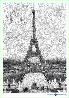 KeitaSagak - Campaña Viajes Expedia  Posters de la ciudad de París
