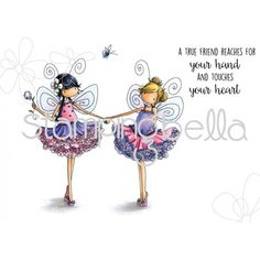 Tiny Townie FAIRY BEST FRIENDS RUBBER STAMP (SET OF 3)