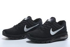 2b19d48c96b7 Nike Air Max 2017 Women Men Black White Shoes Unique shape the detail  design of ultra light