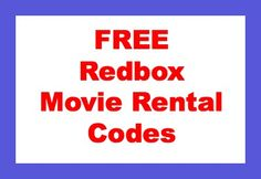 Awesome list of FREE Redbox Movie Rental codes.  Use each code once per credit card.