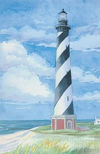 Painting - Cape Hatteras Lighthouse by Paul Brent