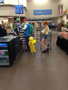 Ash, Misty, and Pikachu family costume -- I am so doing this one day. And when there is a baby they can be Togepi!!! LOVE!