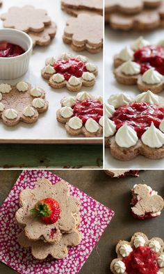 Cream & Jam Filled Roasted Strawberry Sandwich Cookies via FamilyFreshCooking.com © MarlaMeridith.com