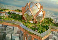 City in the Sky, Hrama, Megatropolis, London, New York City, urban parks, invasive species, London Tower bridge