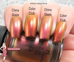 China Glaze Cabin Fever ; Color Club Burnt Out ; 10/6/15