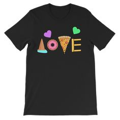 Love Junk Food Kids Size T-Shirt - Black / 5 to 6 Years