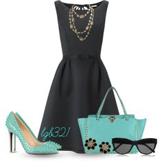 A fashion look from May 2014 featuring Katie Ermilio dresses, Christian Louboutin pumps and Valentino shoulder bags. Browse and shop related looks.