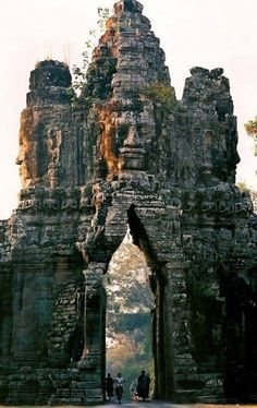The Gate of Angkor-Thom, Siem Reap, Cambodia.