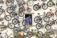 Decorate your home with bikes