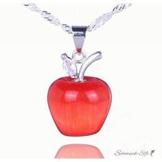Silber Anhänger Schneewittchen Apfel Karneol  inkl. 925...