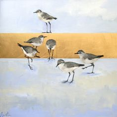"""""""Wild"""" by Ellen Welch Granter. Oil and Gold Leaf on Canvas, 24""""x24"""". Available at www.maine-art.com."""