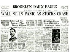 What happened when the stock market crashed?