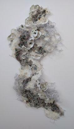 Fragment', fungi inspired embroidery. marianjazmik.co.uk Textile Sculpture, Textile Fiber Art, A Level Textiles, Creative Textiles, A Level Art, Felt Art, Texture Art, Fabric Art, Paper Art