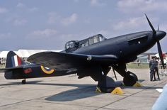 Boulton Paul Defiant .  I don't think there are any currently flying.