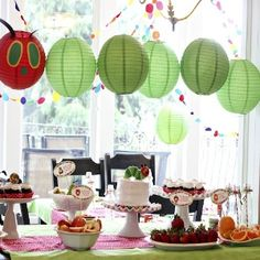 I think I just found the theme for Charlie second birthday party The Hungry Caterpillar