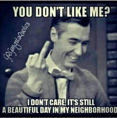 Mr. Rogers middle finger salute to the neighborhood