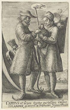 Februari: een paar uit Lapland, Crispijn van de Passe (II), 1604 - 1670