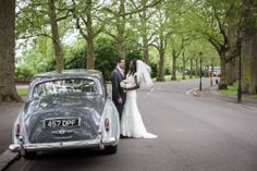 battersea park rolls royce wedding photo