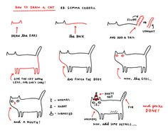 """How to Draw a Cat"" via Tastefully Offensive"