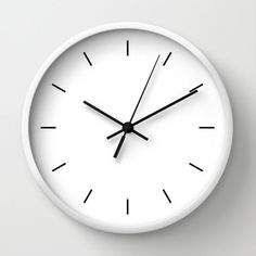 """Modern Clock, Modern Wall Clock, Modern Clock, The Modern Clock, Black and white clock, modern striped clock, modern wall clock by STANLEYprintHOUSE  47.00 USD  Available in natural wood, black or white frames, our 10"""" diameter unique Wall Clocks feature a high-impact plexiglass crystal face and a backside hook for easy hanging. Choose black or white hands to match your wall clock frame and art design choice. Clock sits 1.75"""" deep and requi ..  https://www.etsy.com/ca/listing/25096.."""