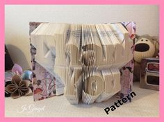 Thank You + Folded Book Art Pattern + DIY +  Customizable + Give as a Gift