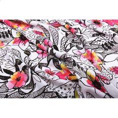 Akvarell skisser tryckt tyg bomull poplin tyg för kvinnor kläder för  Klänning Sy DIY vävnad VARM 00e91790f02f1
