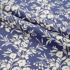 <b>Olympia Oxford 06,<br> tło - ciemny niebieski, kwiaty kość słoniowa
