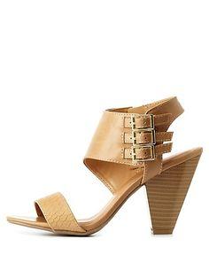 City Classified Triple-Belted Cone Heels: Charlotte Russe #heels