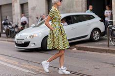 great dress. #LindaTol in Milan.
