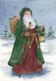 Old world father Christmas - Barbel Amos