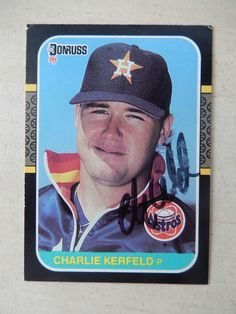 #Charlie #kerfeld autographed 1987 #donruss baseball card,  View more on the LINK: http://www.zeppy.io/product/gb/2/282184454981/