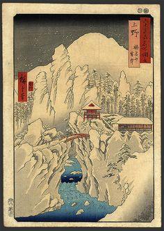 Mount Haruna in Snow, Hiroshige