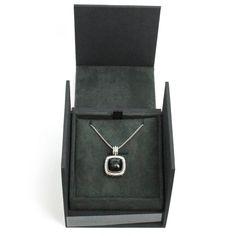 "David Yurman Onyx & Diamonds 14mm Albion Pendant on 18"" Chain in Sterling Silver #DavidYurman #Pendant"