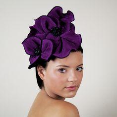 The Hat Store: Purple Bloom Fascinator #magenta #spring