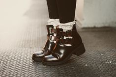 so ready for fall - cut out boots with socks and leggings... yes PLEASE.