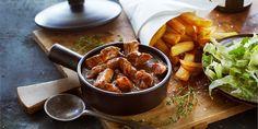 Boodschappen - Vlaamse stoof met speculaas en frieten