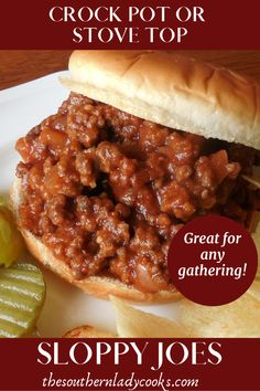 Easy delicious recipe for sloppy joes that is wonderful anytime or for any event recipes beef sloppy joes crockpot slowcooker stovetop easy meat hamburger # Quick Hamburger, Sloppy Joe Recipe Crock Pot, Hamburger Meat Recipes Easy, Hamburger In Crockpot, Sloppy Joes Recipe, Beef Recipes, Cooking Recipes, Meatball Recipes, Crockpot Sloppy Joe Recipe