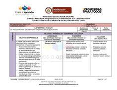FORMATO ÚNICO DE PLANEACION - SECUENCIAS DIDACTICAS