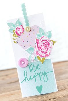 Be Happy - Papertrey Ink Challenge - Paper Girl Crafts