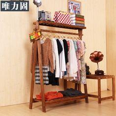Weili-sólido-sólido-ropa-perchero-de-madera-piso-exhibición-de-la-ropa-estante-de-la-pared.jpg (800×800)