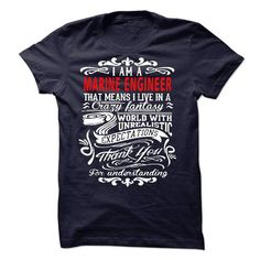 I am a Marine Engineer T Shirts, Hoodies. Get it now ==► https://www.sunfrog.com/LifeStyle/I-am-a-Marine-Engineer-19439344-Guys.html?57074 $23