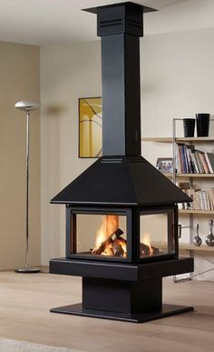 15 gorgeous freestanding suspended fireplace design ideas for Garden rooms rocal