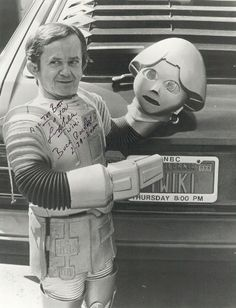 Twiki from Buck Rogers in the 25th Century - even back in the 80s, the disconnect between a robot that looks like a boy but talks like a dirty old man was pretty funny. (Twiki was played by Felix Silla)