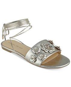 Ivanka Trump Catera Flat Lace-Up Sandals