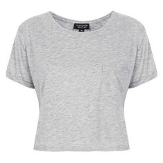 Topshop Crop Pocket Tee White 10 (10-12 US) ($12) ❤ liked on Polyvore featuring tops, crop tops, shirts, topshop, knit tops, knit shirt, shirt crop top, white top and boxy top