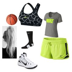 """Basketball practice"" by antaneawalker on Polyvore featuring NIKE"