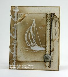 Masculine and distressed.  I love making distressed cards.  And I love this stamp!