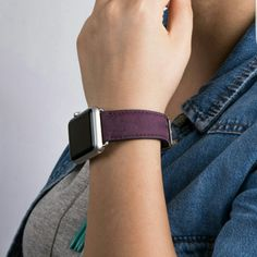 Apple Watch Strap Band 38mm 42mm // in AnticPurple   Now its time to match your band with your most loved iPhone case..